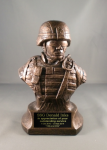 Kevlar Bust Statue Army Soldier Statue Gifts