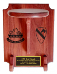 Standard Stetson Display with LASERING Cavalry Stetson Displays for Army Retirement