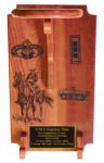 Large Stetson Display with Lasering Cavalry Stetson Displays | Hat Rack