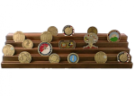 Challenge Coin Display - 50 Coin Step Challenge Coin Displays