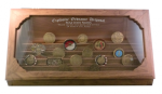 Challenge Coin Display - 50 Coin Step in Glass Challenge Coin Displays for Army Retirement