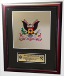 Framed Single Mat Army Colors  16x20 Custom Framed Army Colors | Army Retirement