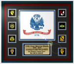 Framed Army Flag Gift 16 x 20 Custom Framed Army Retirement Gifts