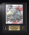 Army Soldier's Creed 11 x 14 Custom Framed Military Creeds