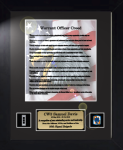 Army Warrant Officers Creed 11 x 14 Custom Framed Military Creeds