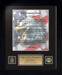 Army Drill Sergeant Creed 11 x 14   Custom Framed Military Creeds