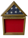 Flag Holder/Shadow Box Flag and Medal Displays For Army Retirement
