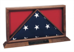 Memorial Flag/Medals Display Case Flag Holders | Military Shadow Boxes