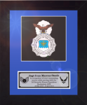 Framed Air Force Security Force Badge Award Framed Air Force Gifts | Awards