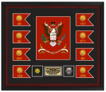 Framed Army Colors and Guidons 18 x 20  Framed Army Gifts