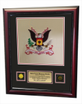 Framed Double Mat Army Colors  16x20 Framed Army Gifts