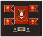 Framed Army Colors and Guidons 18 x 20 Framed Army Gifts | Awards