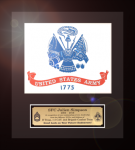 Framed Army Flag Gift 12 x 13 Framed Army Gifts, Creeds, Awards