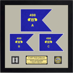 Framed Army Guidon Gift 20 x 20 Framed Army Guidons