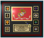Framed USMC Flag Gift 16 x 20 Framed Marine Corps Guidons