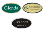 Frame Badge - Holds 1.5 X 3 Laser Engraved Insert with a Choice of Colors Framed Name Badges | Name Tags