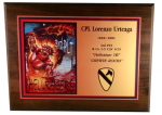 Full Color Plaque with Cherry Finish Full Color Military Plaques