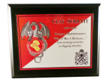 Full Color Plaque on Matte Black Full Color Military Plaques