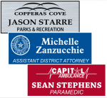 1 1/4 X 3  Laser Engraved Name Badges | Name Tags