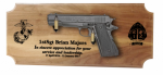 Standard M1911 Walnut Pistol DIsplay Marine Corps Gift Pistol Displays