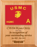 Marine Corps Lasered Guidon Plaque Marine Corps Guidon Plaques