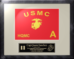 Framed Marine Corps Guidon Gift 11 x 14  Marine Corps Guidons | Framed