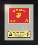 Framed Marine Corps Simulated Guidon Gift  Marine Corps Guidons | Framed