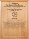Marine Corps NCO Creed  Plaque Marine Corps Retirement Gifts