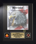 Marine Corps NCO Creed 11 x 14 Military Creed Plaques and Frames