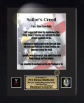 Sailor's Creed 11 x 14  Military Creed Plaques and Frames