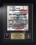 Coast Guard Creed 11 x 14 Military Creed Plaques and Frames