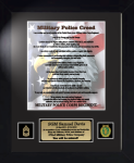 Military Police Creed 11 x 14 -  Military Creed Plaques and Frames