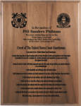 Coast Guardsman's Creed Walnut Plaque Military Creed Plaques and Frames