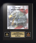Army Ordnance Corps Creed 11 x 14  Military Creed Plaques and Frames
