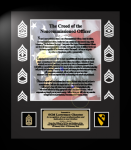 Army NCO Creed 12 x 14   Military Creed Plaques and Frames