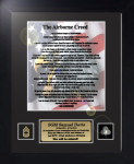 Army Airborne Creed 11 x 14  Military Creed Plaques and Frames
