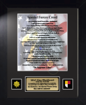 Army Special Forces Creed 11 x 14 Military Creed Plaques and Frames