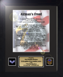 Airman's Creed 11 x 14 Military Creed Plaques and Frames