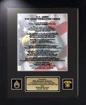 Army Quartermaster Creed 11 x 14 Military Creed Plaques and Frames