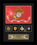 Framed USMC Flag Gift 12 x 15 Military Flags | Framed | Gifts