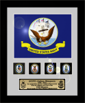Framed Navy Flag Gift 12 x 15  Military Flags | Framed | Gifts