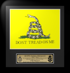 Framed Don't Tread on Me  Flag Gift 12 x 13  Military Flags | Framed | Gifts
