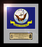 Framed Navy Flag Gift 12 x 13 Military Flags | Framed | Gifts