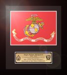 Framed USMC Flag Gift 12 x 13  Military Flags | Framed | Gifts