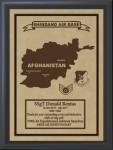 Afghanistan Deployment Plaques Military Overseas Tour Plaques