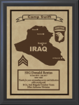 Iraq Deployment Plaques Military Overseas Tour Plaques