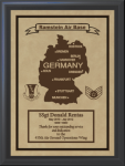 Germany Military Overseas Tour Plaques