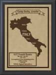 Italy Military Overseas Tour Plaques
