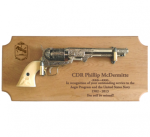 Standard Alder Navy Pistol Plaque Military Pistol Plaque Displays
