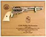 Large Alder Navy Pistol Plaque Military Pistol Plaque Displays